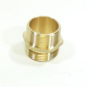 "2-1 / 2"" Adapter Brass Male NST x 2"" Male NPT (24)"