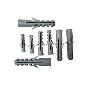"""1 / 4""""x 1"""" Grey Plastic Conical Anchors Ribbed With Collar 1000ct (5)"""