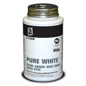 AntiSeize Pure White Compound 8oz Tube w / PTFE 475°F Food Grade USDA & FDA Approved (12)