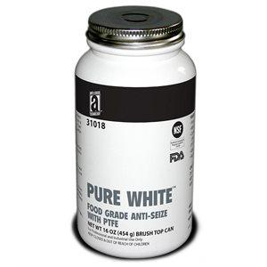 AntiSeize Pure White Compound 1lb Tube w / PTFE 475°F Food Grade USDA & FDA Approved (12)