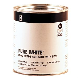 AntiSeize Pure White Compound 2lb Tube w / PTFE 475°F Food Grade USDA & FDA Approved (12)