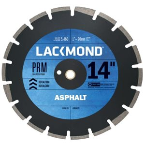 "16"" Diamond Blade Predator Asphalt & Green Concrete Dry Cut .125 1"" Arbor"