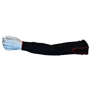 "RIPCORD™ Black High Tenacity Plaited Sleeve 18"" 2""Gussett ANSI Cut Level A2 (100) Min.(1)"