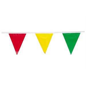 "Pennant Style Flags 9""x 12""x 100' Length Multi Color Flags (50) Min.(50)"