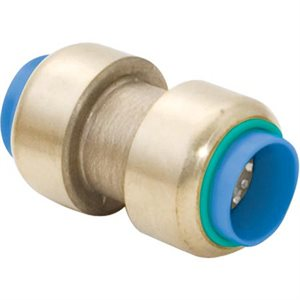 "Push-Fit Coupling 1 / 2""Push Fit x 1 / 2""Push Fit Lead Free Brass (60)"