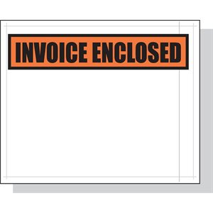 "Envelopes 4-1 / 2""x 5-1 / 2"" 1000ct ""Invoice Enclosed"""