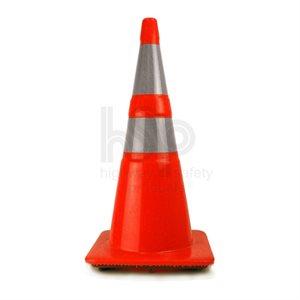 "Cone 28"" Orange Custom Logo Barricade Recessed 4""& 6""Reflective Bands 7lb (200) Min.(100)"
