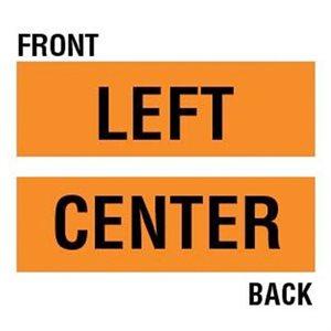Orange Bright Left Overlay for Road Sign (12)
