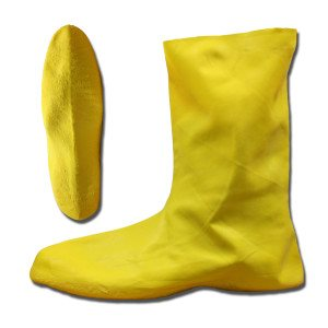 Boots Hazemat Yellow .75MM Rubber Rib / Texture Sole Over Shoe XLarge (50) Min(1)