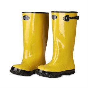 "Boots Yellow Rubber Black Rib Sole Slush Style Cotton Lined 17"" Tall Size 14 (6) Min. (1)"