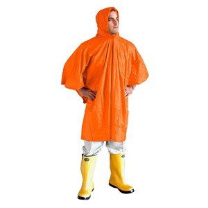 Rain Poncho w / Hood Clear 10mil PVC (50)