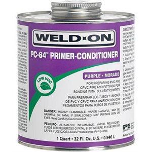 Pipe Primer / Cleaner Weld-On PC-64 Purple Color 4oz (24) Min.(6)