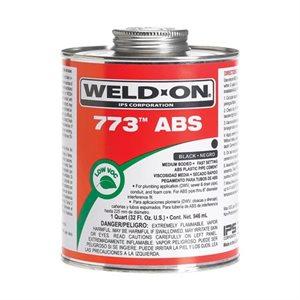 Pipe Glue ABS Cement Weld-On 773 Medium 4oz (24) Min.(6)