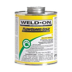 Pipe Glue CPVC Cement Weld-On FlowGuard Gold Medium 4oz (24) Min.(6)
