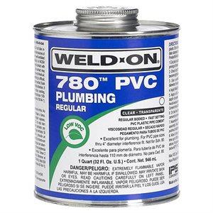 Pipe Glue PVC Cement Weld-On Plumbing 780 Regular 4oz (24) Min.(6)