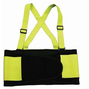 Back Support Belt Hi-Vis Yellow