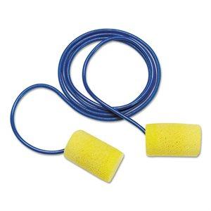 Ear Plugs 3M E-A-R 29db Yellow Foam with Cord 100 Pair Box (10) Min.(100)