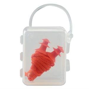 Ear Plugs Soft Rubber 25DB With Cord Plastic Case Included