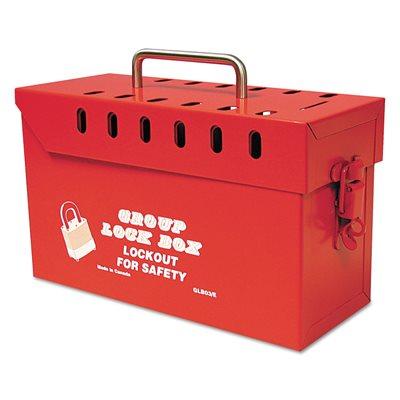 """Lock Box Brady Yellow Tamper Resist Steel 13 Locks 6""""x 10""""x 4"""" (6) Min. (1)"""