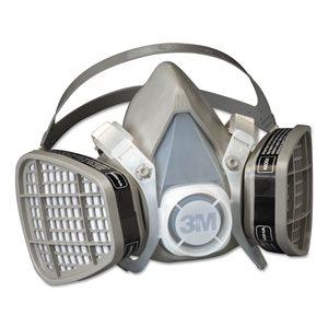 3M Half Facepiece 5000 Series Easy Care Respirators Medium (12)