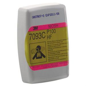 3M Cartridge Filter 2 Pack 7093 Hydrogen Fluoride Organic & Acid P100 (60) Min. (1)