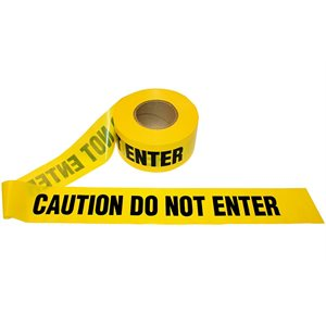 """3""""x 1000' 2.5mil Yellow """"Caution Do Not Enter"""" Tape 12ct Case (1)"""