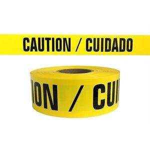 "3""x 1000' 2mil Yellow ""Cuidado Caution"" Tape 12ct Case (1)"