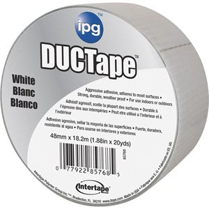 """White 2""""x 60yd 9mil Duct Tape IPG AC20 Retail Pack (648) Min.(24)"""