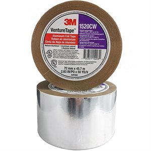 """Aluminum Foil 4""""x 50yd 2mil Tape 3M 1520CW (12) Min.(12)"""