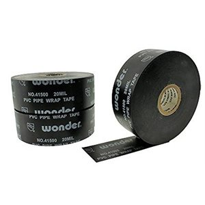 "Pipe-rap 20mil 2""x 100' Black Wonder Tape Printed (24) Min.(6)"