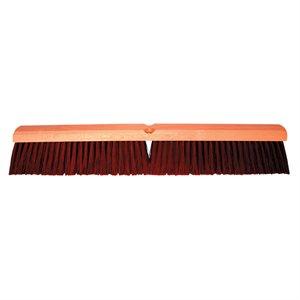 """Broom Plastic 24"""" Block 3"""" Brown Poly Bristles & 60"""" Handle Wet / Dry Sweeping (8)"""