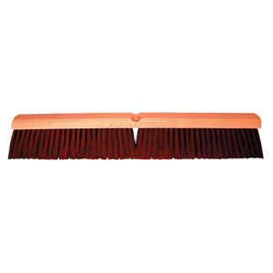 "Broom Hardwood 24"" Block 3"" Poly Bristles & 60"" Handle Wet / Dry Sweeping (6)"