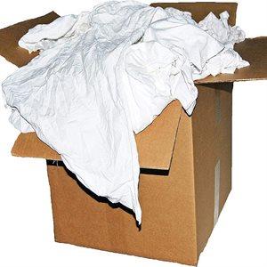 Cotton Wiping Rags White TShirt 25lb Box (1)