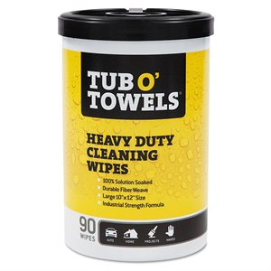 "Tub O'Towels Wipes 90ct Hand Towels 10""x12"" Citrus Fragrance (6)"